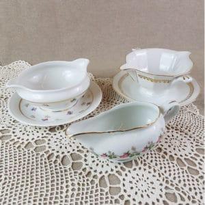 Sauciers en porcelaine vintage