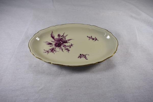 petit plat porcelaine ovale