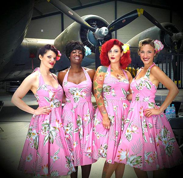 Satin Doll Sisters est un groupe rétro vocal exclusivement composé de voix féminines sélectionnées avec soin. Satindollsisters.fr<br>Crédits photo : Satin Doll Sisters